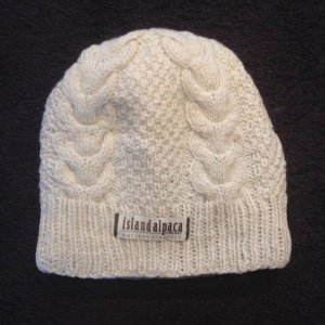 100% Alpaca Cable lined Hat warm for winter
