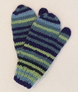 Alpaca Mittens Stipe for children and toddlers