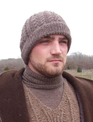 Alpaca Hand Knit Cable Hat 4671ee342d6