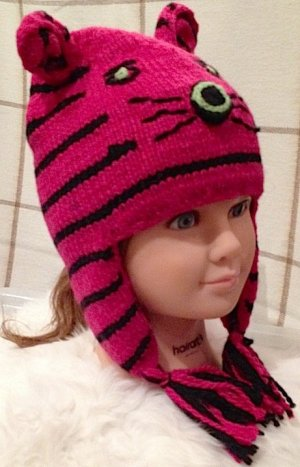Animal Cat Alpaca hat for children toddler Cat hat Tiger hat