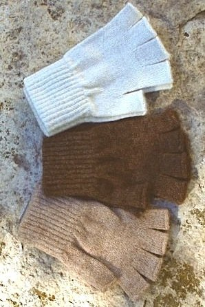 Island Alpaca texting gloves fingerless